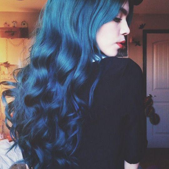 Blue hair Синие волосы