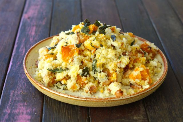 Pumpkin and Bacon Cauli-rice with Sage.