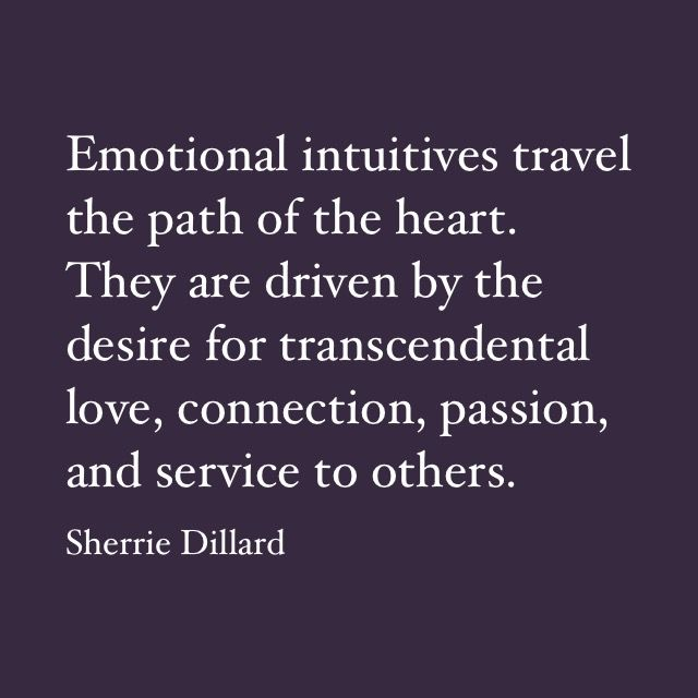 Emotional intuitives.