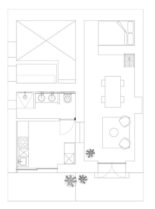 The Little House in the Campo,Floor Plan
