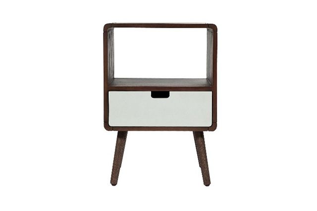 How To Make A Modern Kid's Room YOU'LL Want To Live In #refinery29  http://www.refinery29.com/modern-kids-room#slide-8  Good taste starts early. Add a small mid-century-inspired table to the room for books and toys. Pillowfort Kids Nightstand, $79.99, available at Target....