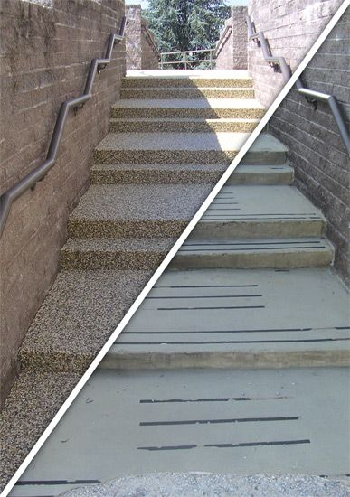 Resurface old concrete with pebble  stone in one day...Amazing!!!!!