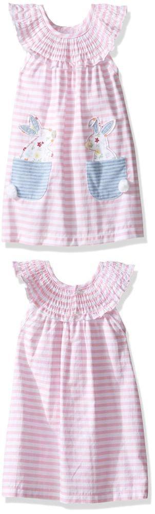 Dresses 163351: Mud Pie Baby Girls Sleeveless Smocked Neckline Sun Dress, Pink Stripes... -> BUY IT NOW ONLY: $37.43 on eBay!