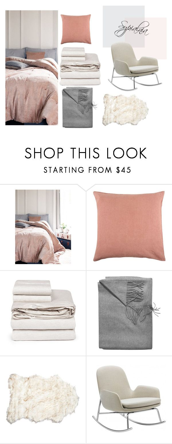 """sypialnia"" by malgosia-1990 on Polyvore featuring interior, interiors, interior design, dom, home decor, interior decorating, Sir/Madam, Mikmax, Sofia Cashmere i Normann Copenhagen"