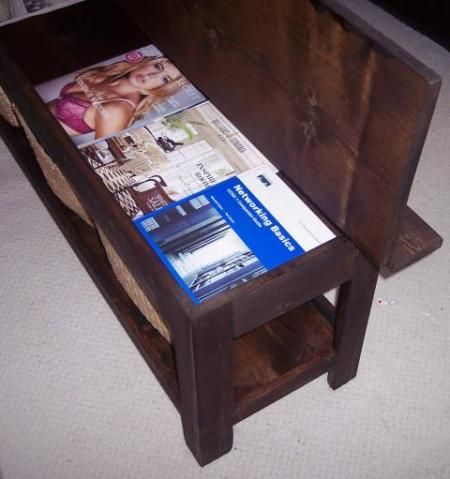 Flip Top Storage Bench / Coffee Table, Plans From Ana White