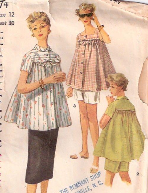 45 best Vintage Maternity Clothes images on Pinterest | Vintage ...