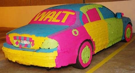 Car Covered with Post-it-Notes