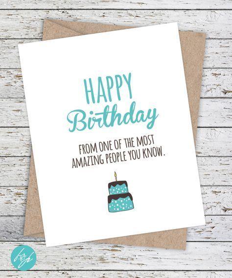 Funny Birthday Card – Boyfriend Birthday – Friend Birthday – Funny Card – Happy