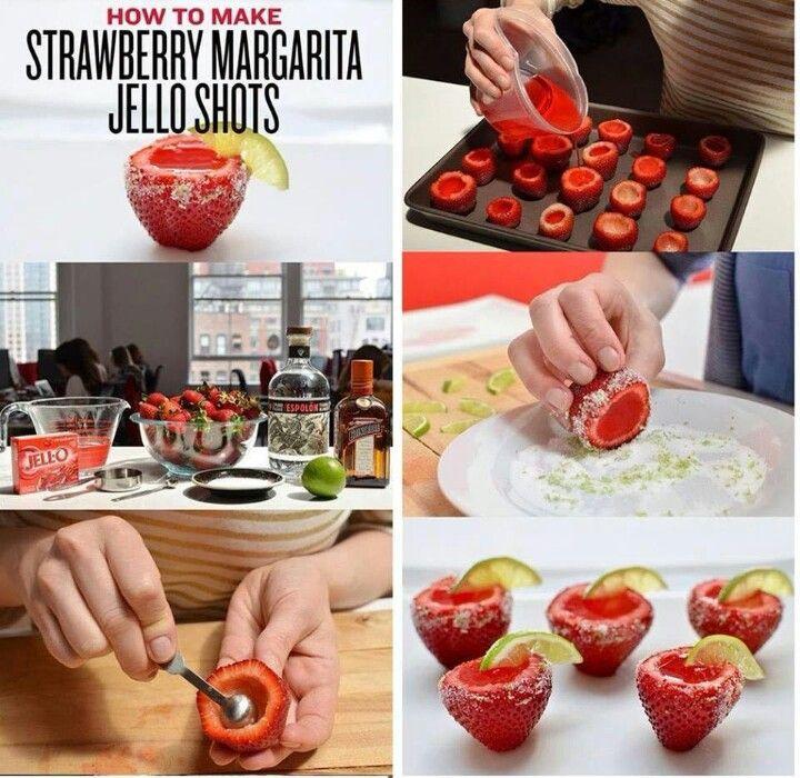 YUM! Strawberry margarita jello shots