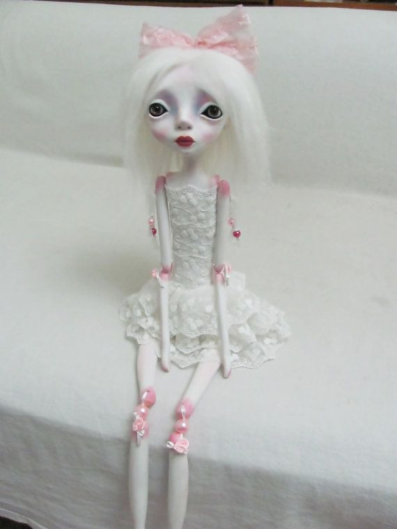 OOAK Jointed sculpted  Hand made Art Doll Alexa by Anastasiasdolls