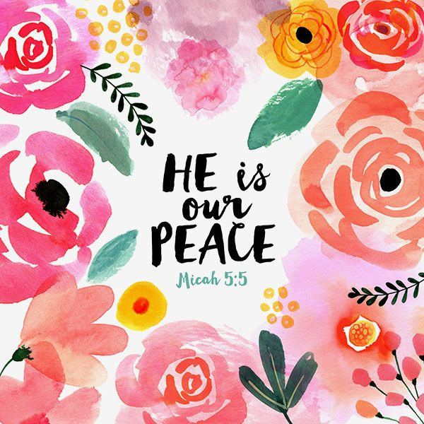 Margaret Berg Art: He is Our Peace Pink Blooms