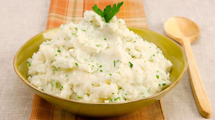 Chive and Parsley Mashed Potatoes - Recipes - Best Recipes Ever - Make-ahead mashed potatoes eliminates the mess of last-minute peeling and a crowded stove top.