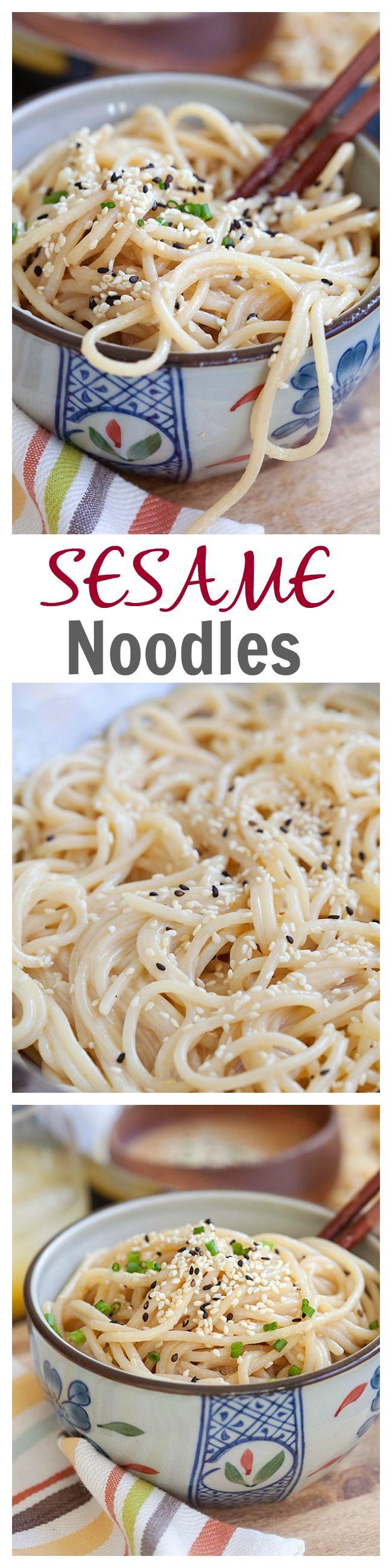 Sesame Noodles | Recipe | Kelp noodles, Sesame noodles and Red peppers