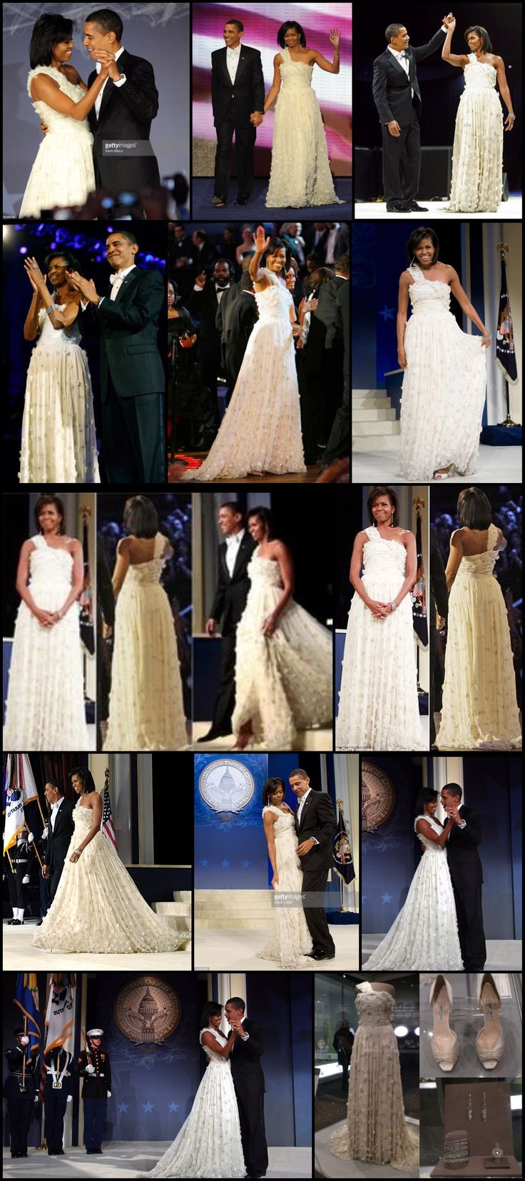 #1stDay #44th #President #POTUS Of The United States  Of America #CommanderInChief #BarackObama #FirstLady #FLOTUS Of The United States  Of America #MichelleObama #First #Inauguration #January2009 Michelle Obama's inaugural gown goes to #Smithsonian – #JasonWu Barack-Michelle-Obama #InauguralBall It was the dress heard 'round the fashion world – a white chiffon one-shoulder gown made by a little-known Chinese American fashion designer named Jason Wu.