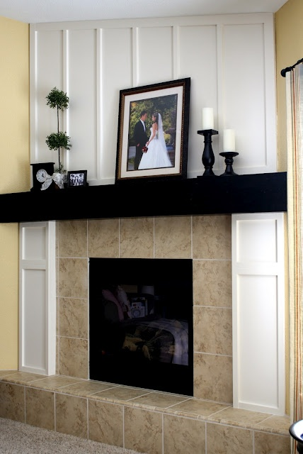 1000 images about fireplace mantles on pinterest for Fireplace no mantle