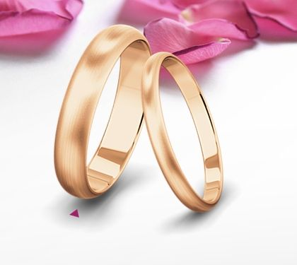 our wedding bands - rose gold matte by saint maurice