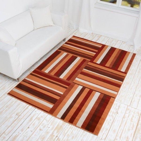 Designer Teppich Sticky - Kurzflor Teppich mit Streifen Muster