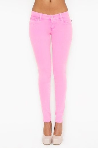 style fashion I want pink jeans!