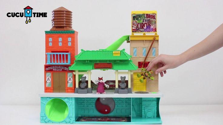 ¡Vamos a jugar con las Tortugas Ninja y Splinter en Chinatown! - Vamos a abrir la caja del super alcantarillado de las Tortugas Ninja. Esta debajo de Chinatown y tiene un cuartel secreto. ¿nos vamos a la aventura con Michelangelo y Splinter?