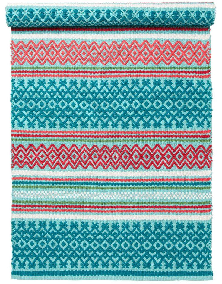 UMED matte turkis | Textile rug | TextileRug | Tepper | Innredning | INDISKA Shop Online