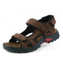 De calidad superior de la sandalia de 2016 hombres sandalias de verano zapatillas sandalias de cuero genuino hombres zapatos al aire libre hombres sandalias de cuero para los hombres 05