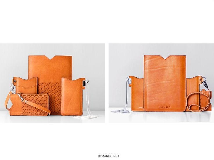 TAN leather casing for iphone and ipadmini / MARGO / www.bymargo.net