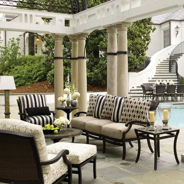 the plaza deep seating wicker patio collection from summer classics yard