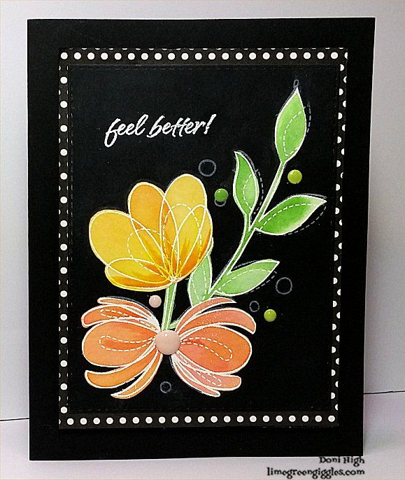 "Lime Green Giggles- Simon Says Stamp ""Spring Flowers"""