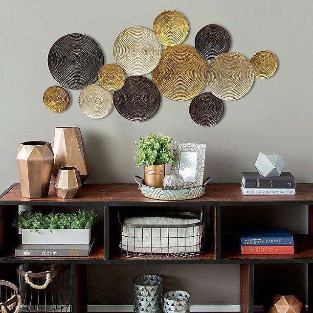 Stratton Home Decor Textured Plates Metal Wall Art Kohls Metal Wall Decor Living Room Hallway Wall Decor Plate Wall Decor