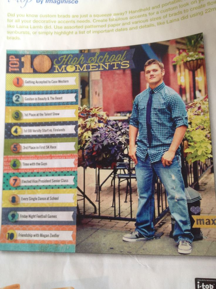 Ideas for high school senior page from Creating Keepsakes magazine.