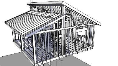 Clerestory beam structure exterior house ideas i would for Clerestory style shed plans