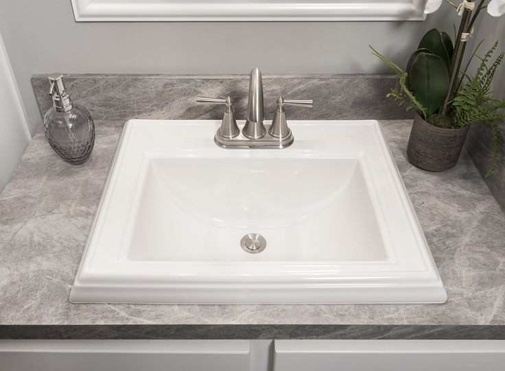 Porcelain Drop In Sink Bathroom The Thoroughbred Pinterest Traditional Home And Modular