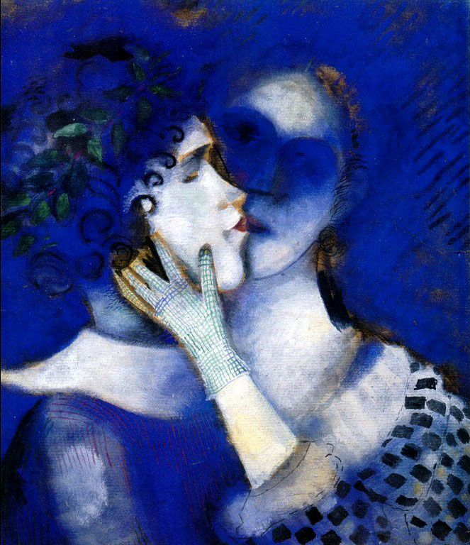 Марк Шагал «Голубые любовники»