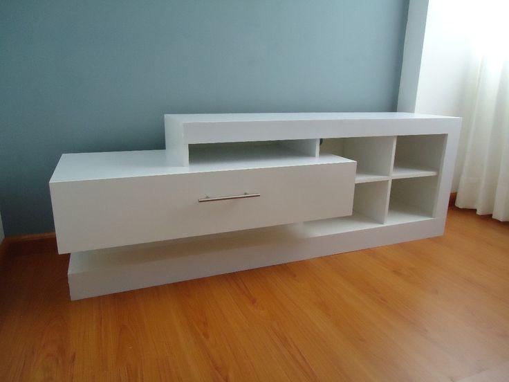 Mueble Para Tv Centro Sala Entretenimiento Melamine Moderno - S/. 449,00 en MercadoLibre