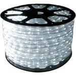 Foto 1 - Mangueira Luminosa LED Branco Corda Natal Pisca Rolo 100mt
