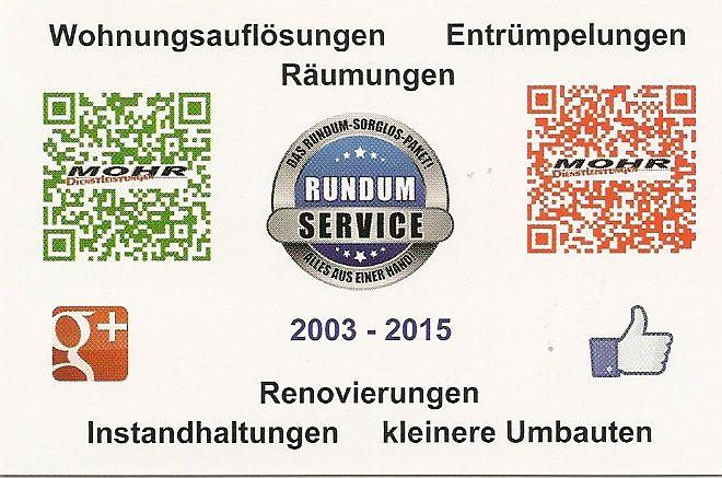 www.wohnungsauflösung-würzburg.de.com MOHR Dienstleistungen Wir machen das - für Sie!