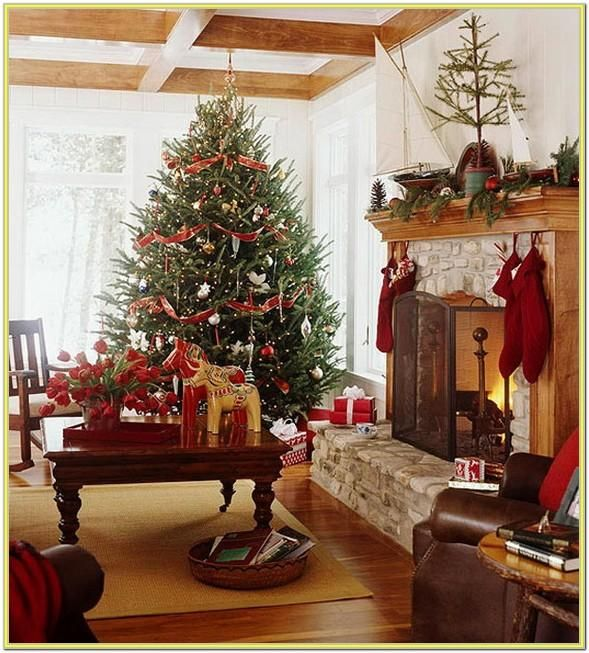 Christmas Decorated Living Room Ideas Christmas decoration in living room