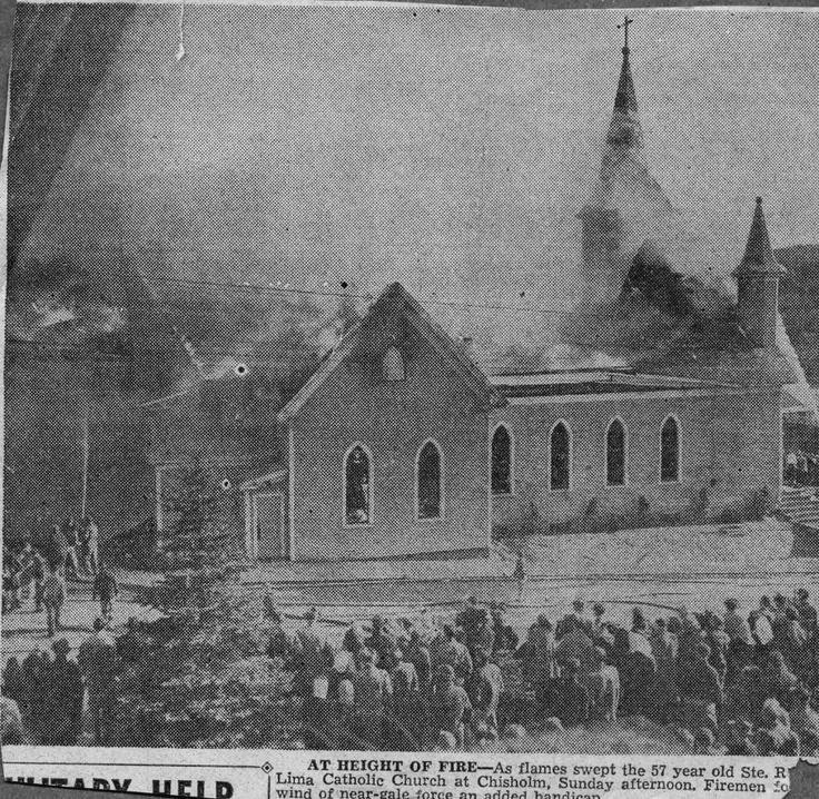 St. Rose Church burning
