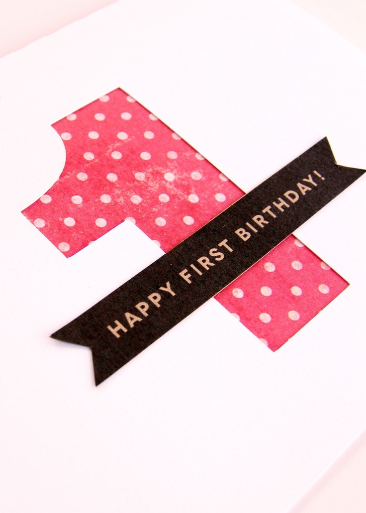 Happy first Birthday Card by Ann-Marie Loves Paper