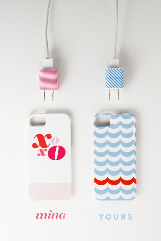 Washi Tape iPhone Chargers....maybe this will keep my boys from stealing mine. :) sounds like an easy fix.