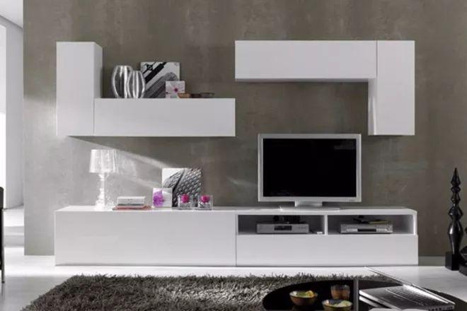 mueble lcd-mesa de tv-modular led - rack moderno- melamina