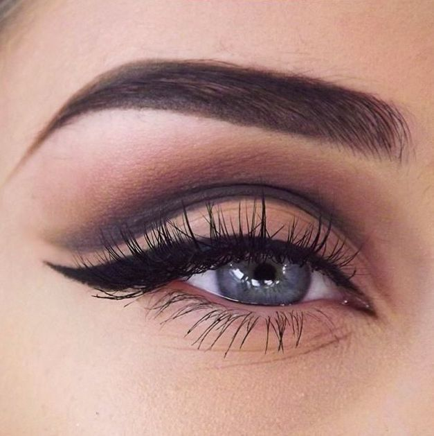 dark crease + winged liner