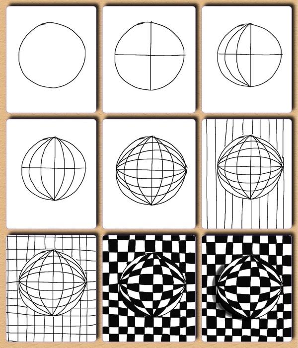 À la fois joli et hypnoptisant - its not an official zentangleTM tangle so its called zentangle-inspired art