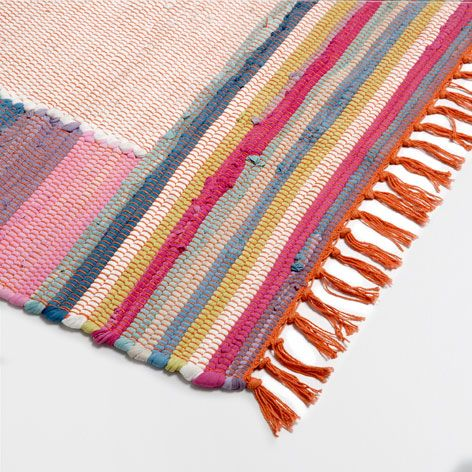 MULTICOLOURED COTTON RUG - Rugs & Curtains - Decoration | Zara Home United Kingdom