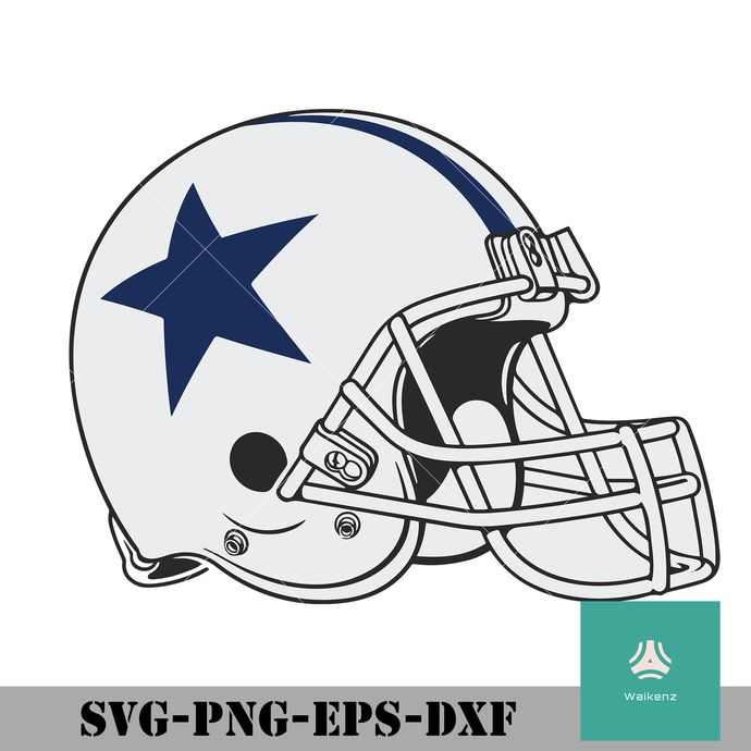 Dallas Cowboys Helmet Svg Png Dxf Eps Digital File Cowboys Helmet Dallas Cowboys Svg