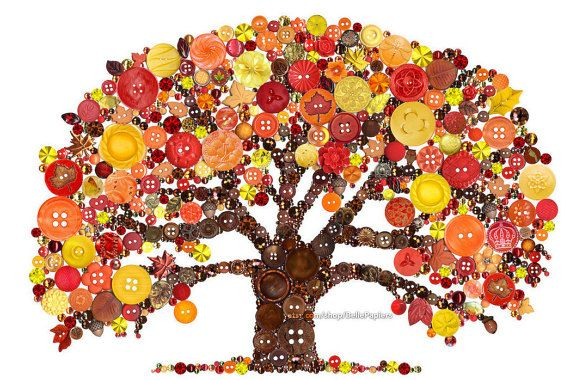 Loss of Loved One Print Button Art Tree of Life by BellePapiers