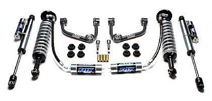 "Camburg 0-3 Inch Performance Suspension Lift System - 2009-2013 F150 4wd - This complete kit utilizes FOX Racing Shox 2.5"" Long-Travel coilover with Camburg Uni-Ball upper A-Arms up front with a set of Fox Racing Shox 2.5"" Piggy Back shocks in the rear. This suspension system will give the Ford F-150 4×4 10"" of travel near the same as a Raptor.     Features:     Uniball Upper Arms  Fox 2.5 R/R front coilover  Fox 2.5 P/B rear shocks"