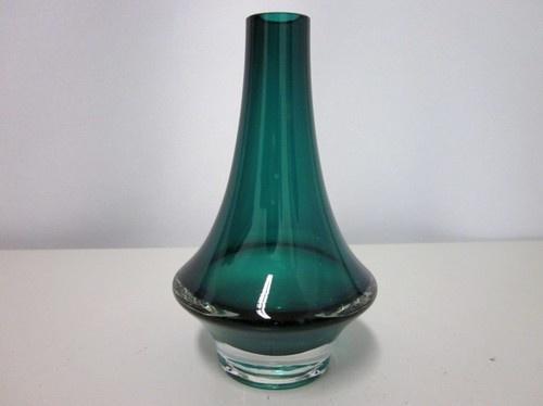 Scandinavian mid-century vase Riihimäen Lasi 50s 60s modernist style