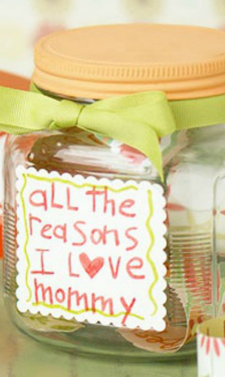 ".Make Mom feel extra special on Mother's Day with this ""I Love You"" jar."