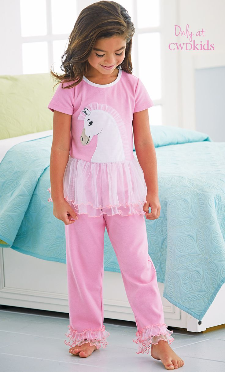 From CWDkids: Horse Peplum Pajamas. We have these and they are so cute!
